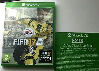 FIFA 17 Xbox One Game - with unused Xbox Live 48 Hour Trial