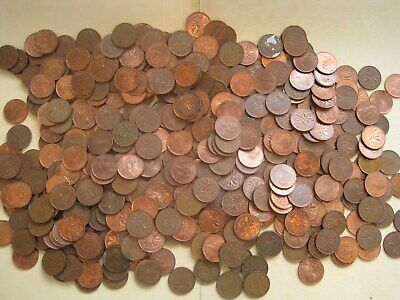 Mixed Dates Coins 2 Rolls! Lot of 100 Canada One Cent Penny