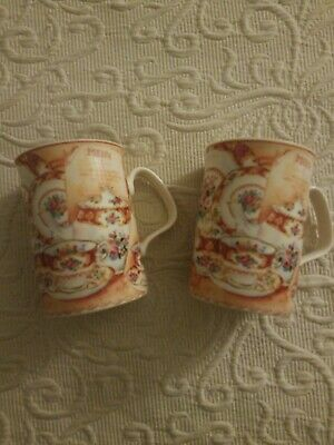 Two Royal Albert LADY CARLYLE AFTERNOON TEA by Philippa Mitchell Fine China lot
