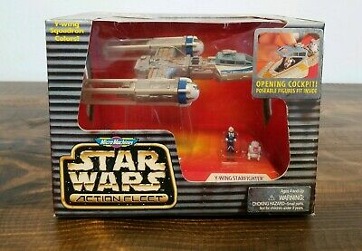 Galoob 1996 Micro Machines Star Wars Action Fleet Y-Wing Starfighter Blue Leader