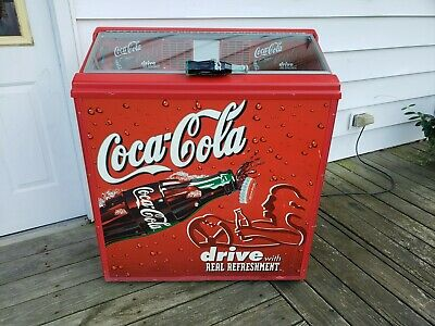 Nice barely used Coke Coca Cola Refrigerated Cooler Machine