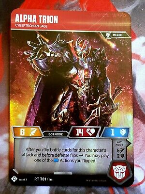 Transformers TCG: Wave 3 - ALPHA TRION, Cybertronian Sage (RT T01), Rare, MINT!!