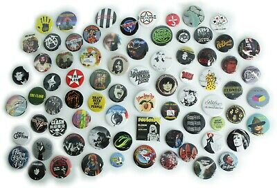 1970's Music Band Buttons Pins Badges 80 DESIGNS Mix & Match Gifts