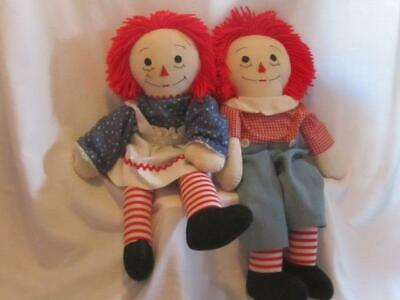 OLD UNIQUE VINTAGE Raggedy Ann Andy Dolls Tall Big 24