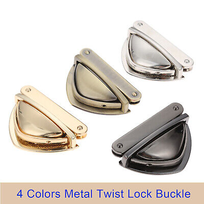 Triangle Shape Clasp Turn Lock Twist Locks for DIY Shoulder Bag Handbag Purse