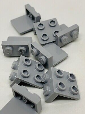 Lego Lot Of 10 Light Gray 1x1 Plate With Flat Side Clip 028-40