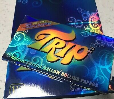 Trip2 1/14 Clear Rolling Papers Brand New