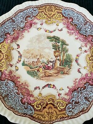 Antique Copeland SPODE England Continental Views Polychrome Dinner Plate  10.75""