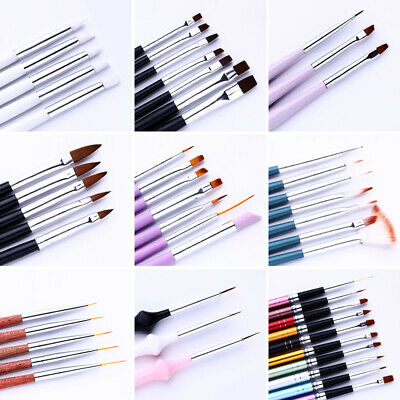 Pro Nail Art Pen Brush UV Gel Acrylic Painting Drawing Liner Polish Brushes Tips
