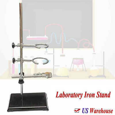 """Laboratory Stand Lab Holder Clamp Flask/Condenser/Tube Iron 50cm/19.7"""" Height"""