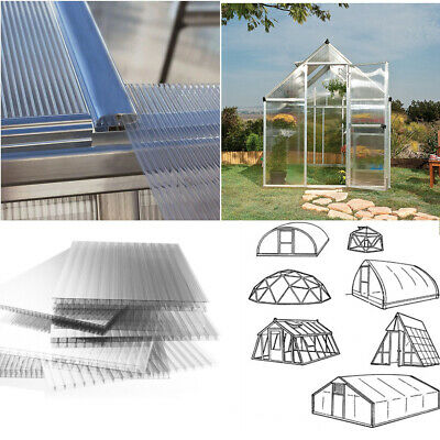 Polycarbonate Sheets Greenhouse Glass Replacement 4mm Twinwall Cold Frame Sheet