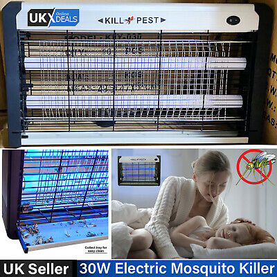 30W UV Electric Insect Fly Bug Pest Mosquito Killer Zapper Catcher UV LED Lamp