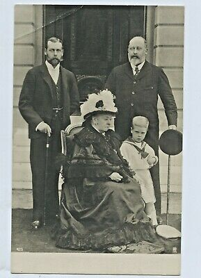 C1905 Rp Npu Postcard Queen Victoria With Her 3 Sons London England D67