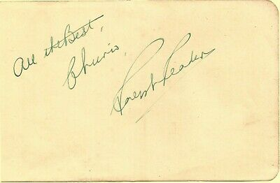 Ralph Reader CBE signed album page approx 6 x 4 inches, actor E1528
