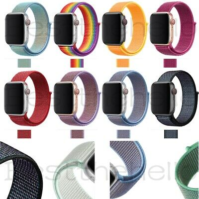 For iWatch Apple Watch Nylon Sport Loop Woven Strap Band Series 4/3/2/1 38-42MM