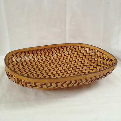 Bamboo Hand Woven Footed Bun/Bread/Fruit Basket