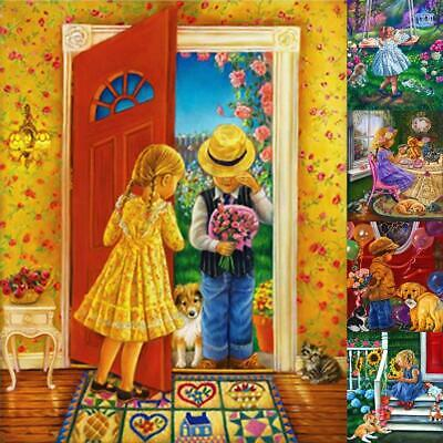 5D DIY Full Drill Diamond Painting Child Cross Stitch Embroidery Kit Crafts Home