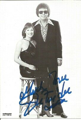 Peters and Lee signed 6 x 4 b/w photo, singers E1484