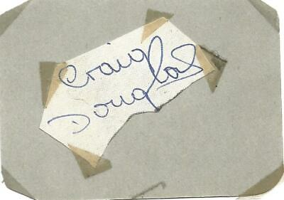 Craig Douglas signed piece attached to album page approx 3 x 2, singer E1455