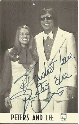 Peters and Lee signed 6 x 4 b/w photo, singers E1454
