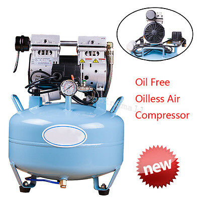 Dental Noiseless Oil Free Oilless Air Compressor 550W 30L/min Dental Chair DHL
