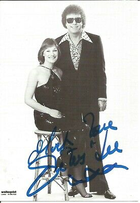 Peters and Lee signed 6 x 4 b/w photo, singers E1453