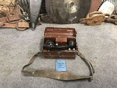 Military Magneto field Phone Vintage Collectable Bar Man Shed