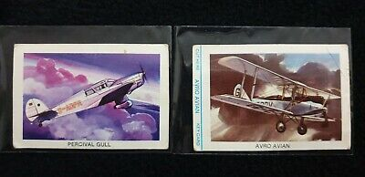Tip Top Bread Air Race Trading Cards x 2 - # 3 & 10