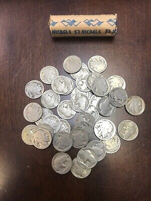Roll of 40 MIX Indian Head Buffalo Nickels -No Date, partial, full Coin Roll