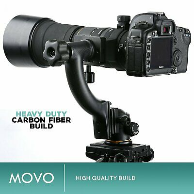 Movo GH400 Carbon Fiber Hybrid Gimbal Tripod Head with Arca-Swiss Quick-Release