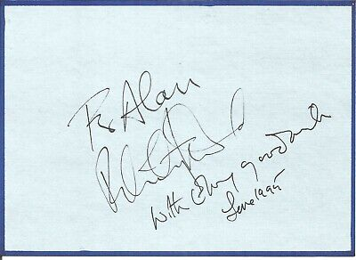 Felicity Kendal signed dedicated card approx 6 x 5 inches, actress  E1360