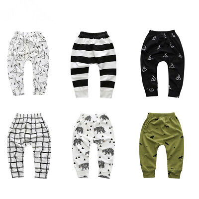 22 Designs Cute Baby Boys Girls Trousers Toddler Harem Pants 1 2 3 Years Old