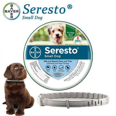 Bayer Seresto Flea and Tick Collar for Small dog up to 18Ibs,8 Month Protection