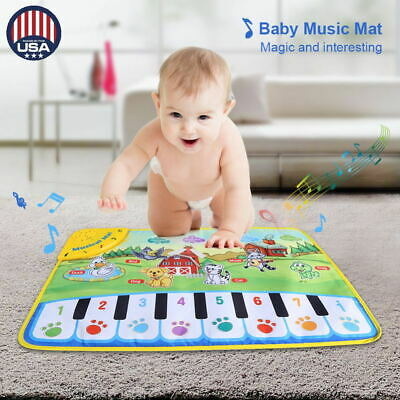 Kids Baby Musical Piano Play Mat Development Educational Soft Toys for Boy&Girl