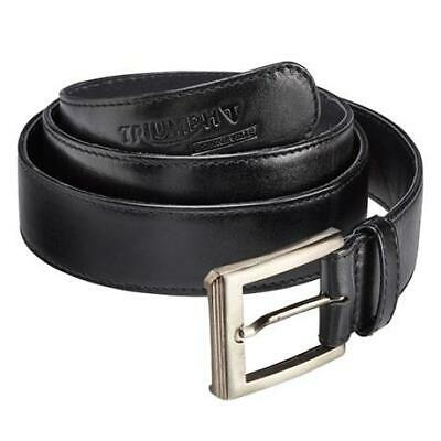 Triumph Motorcycle Black Leather Belt - P/N: MBEA1620-L