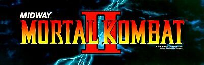 Mortal Kombat 2 Arcade Marquee For Reproduction Header/Backlit Sign