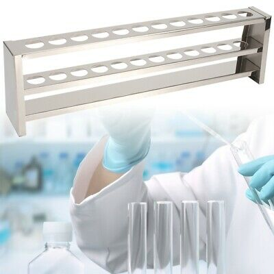 12 Holes Stainless Steel Colorimetric Test Tube Stand Rack Holder for Laboratory