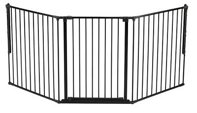 NEW BABYDAN 105CM TALL BLACK BABY SAFETY GATE 72CM DOOR SECTION EXTENSION