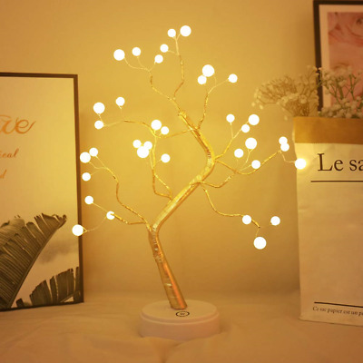 XIYUNTE Pearl Tree Lights Night Light Bedside & Table Lamps with Touch Button, &