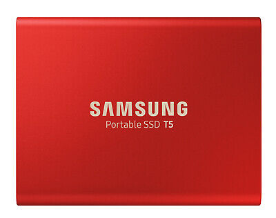 New Samsung - MU-PA1T0R/WW - 1TB T5 Portable SSD - Metallic Red