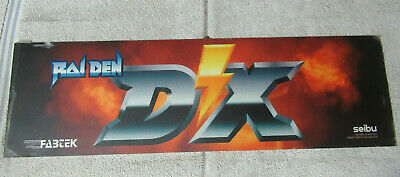 "original  RAIDEN DX seibu   25 1/2- 7 1/2"" sign marquee cF42"