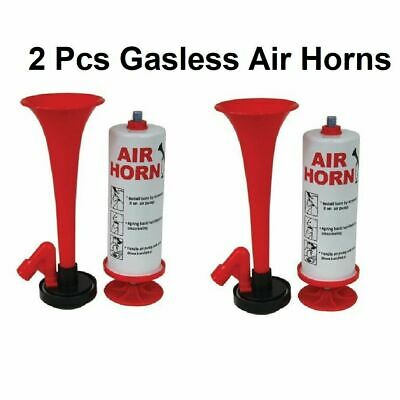 2x HAND HELD PUMP LOUD HORN ACTION PARTY FOOTBALL FESTIVAL AIR FOG HORN BLOWER