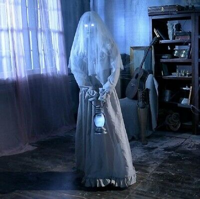 5' ANIMATED FLOATING GHOST LADY Halloween Prop HAUNTED HOUSE