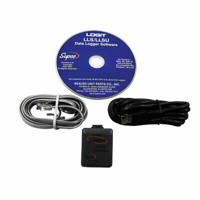 Supco LOGiT LLSU PC Software and USB Cable Kit, Required for all LOGiT Loggers