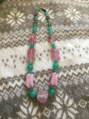 Stunning Rare Vintage Possibly Art Deco glass French necklace