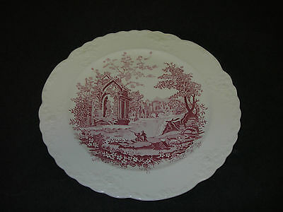 """DINNERWARE Taylor Smith Taylor ENGLISH ABBEY Red Luncheon Plate 9¼"""""""