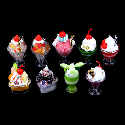 Dollhouse Mini Food Decor Cream Fruit Cup Ice cream cup Simulation Kid ~OY