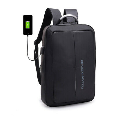 Anti-Theft Unisex Travel Business Laptop Waterproof Backpack USB Port School Bag