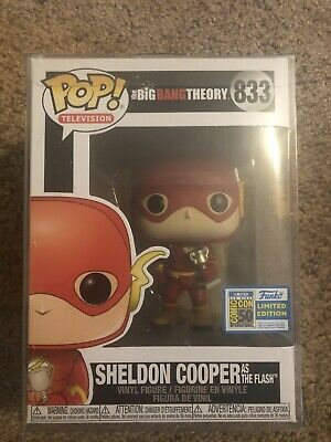 Funko Pop Big Bang Theory Sheldon Flash Sdcc Official Sticker  Free Protector