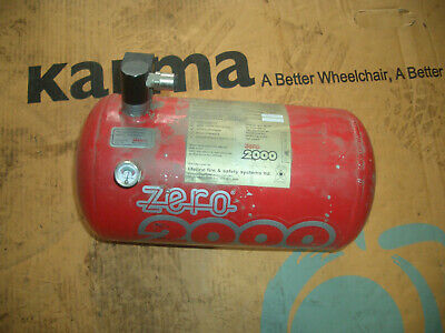 Lifeline electric rally race plumbed in fire extinguisher bottle, OUT OF DATE